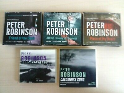 5 x Peter Robinson CD Audio Book Bundle Lot Crime/Thriller