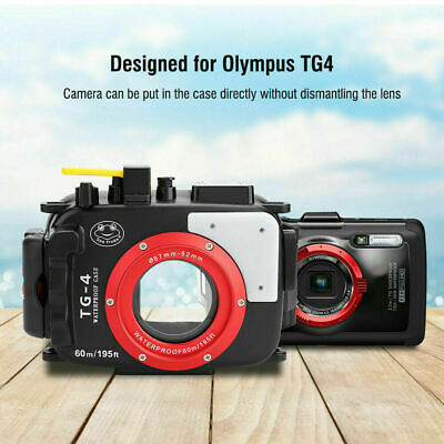 60M Underwater Waterproof Housing Case Diving Cover For Olympus TG4 Camera OY