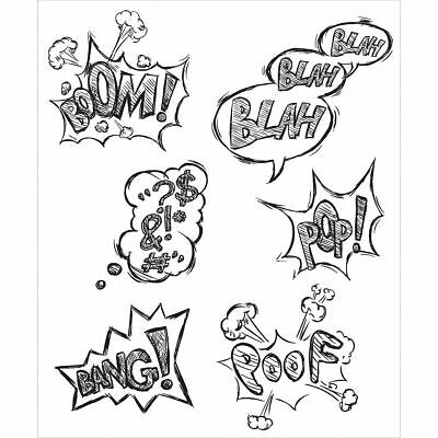 Stampers Anonymous Tim Holtz Cling Mounted Rubber Stamp Set Crazy Thoughts 238