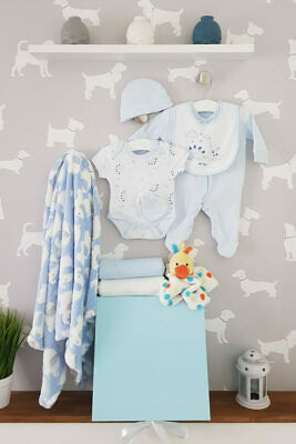 PERSONALISED 'Dino' New Baby Boy Gift Hamper, Baby Shower Present LARGE