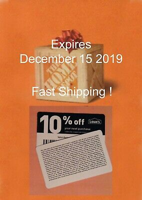 (20) Lowes 10% Off for Home Depot only -  Expires December 15 2019