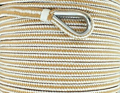 8mm x 100M Double Braid Nylon Anchor Rope Super Strong Great for Drum Winches