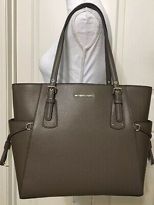 4e5924c31267 NWT MICHAEL KORS Voyager East West Crossgrain Leather Tote Ballet ...