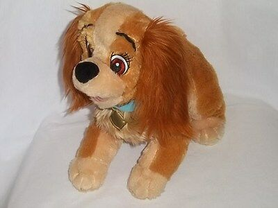 """DISNEY STORE EXCLUSIVE 11"""" Plush CORE LADY And The Tramp Dog Stuffed Animal Toy"""