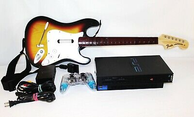Sony Play Station 2 Bundle Multitab Controller Guitar Hero & Console Tested