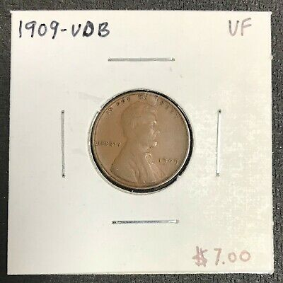 1909-Vdb U.s. Lincoln Wheat Penny Cent ~ Very Fine Condition! C2064