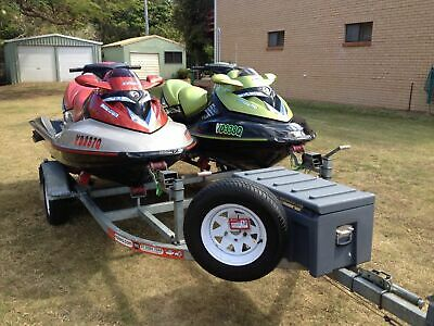 2005 Seadoo RXT Jet Skis and Trailer Two pack
