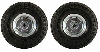 "2 x New 10"" Pneumatic Sack Truck Trolley Wheel Barrow Tyre Tyres Garden Push"
