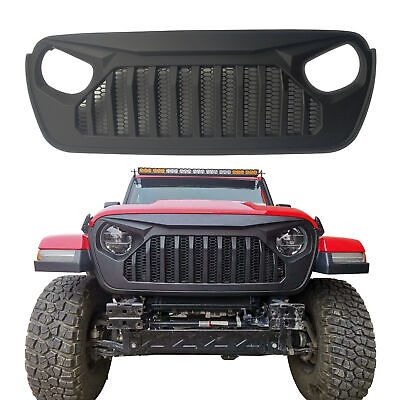 New ABS Front Grille with Mesh Inserts for Jeep Wrangler JL 2018 2019