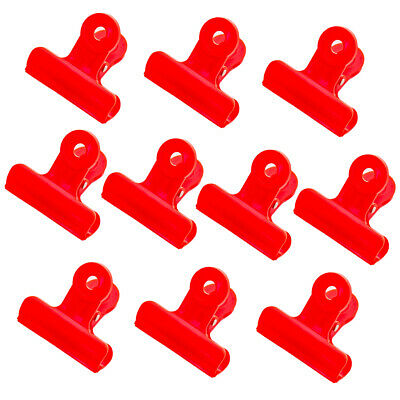 Binder Clips 10 Pack 1.9 Inch Plastic Large Bulldog Hinge Paper Clips Clamps