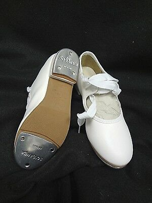 So Danca TA35 Children/'s Size 13 Medium White Classic Tie-Up Tap Shoes