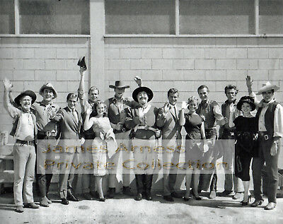 James Arness Gunsmoke Marshal Dillon 1960's Back Lot Candid Group Photo (Rare)