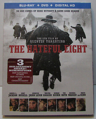 The Hateful Eight Blu-ray / DVD 2-Disc Set w/ gatefold slipcover NEW! no digital