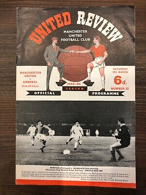 Manchester United vs Arsenal match programme 16th March 1966 United Review