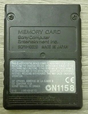 Memory Card Ps2 8Mb  Original Sony Playstation 2 Scph-10020