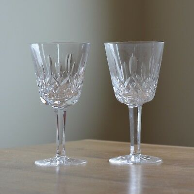 WATERFORD Lismore Claret WINE GLASSES / Set of 2