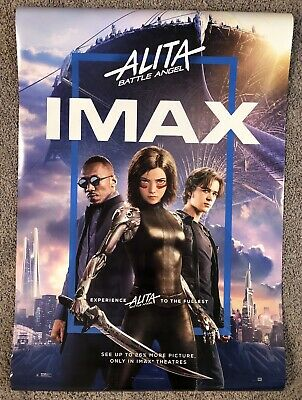 IMAX Alita Battle Angel Original Double Sided Movie Poster 27 X 40