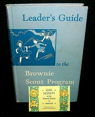 Leaders Guide to Brownie Scout Program 1950 Book & Grils Scouts Membership Card