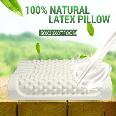 100% Natural Bedding Latex Soft Pillow Comfort Bed Sleep Support