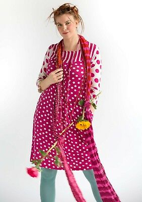 BNWT *Gudrun Sjoden* deliciously pink dotty 'Gudrun' dress XL 44-46""