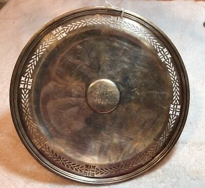 Fine Tiffany Sterling Silver Pierced Cake Tray / Stand 8 1/2' Diameter 461 Grams