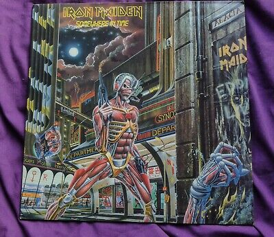 "Iron Maiden ""Somewhere In Time"" Original 1986 U.K. 1st pressing + inner. nr mint"