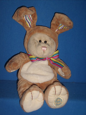 Starbucks Bearista Bear 75th Edition Bunny Stripped Ears 2008