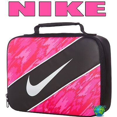 b9077465a8 Nike Insulated Reflect School Lunch Box Bag Tote Carrier 9A2663 Black Hyper  Pink
