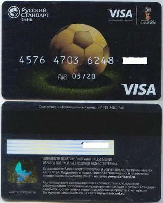 Debit Card World Cup FIFA 2018 VISA  Russian bank - Russkiy Standart