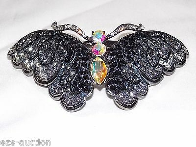 Free People Pair Chainmail Salon Iridescent Color Change Hair Clip Barrettes NWT