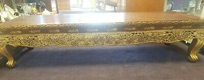 Vintage Southeast Asian Rosewood and Parcel-Gilt Low Table / Prayer Table