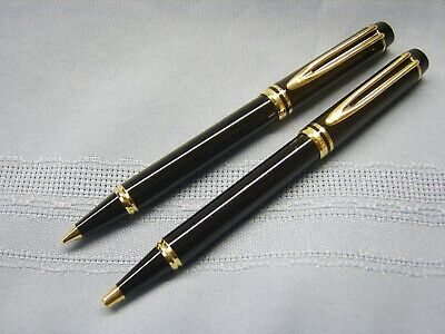 Waterman's Black Ballpoint Pen and Mechanical Pencil Set Made in France