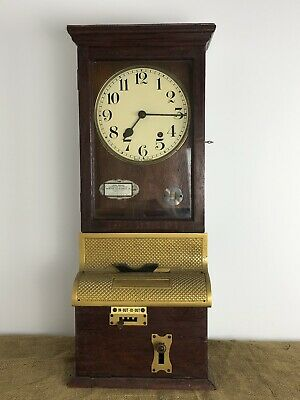 National Time Recorder Vintage Timeclock Clocking In Machine