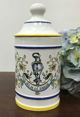 Vintage French Pharmacy Jar Rare Apothecary Pot  - i078