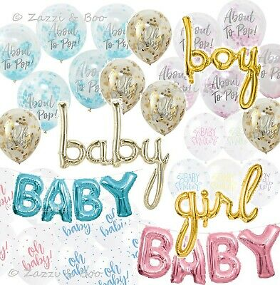 OH BABY Baby Shower Party Supplies Gender Reveal Confetti Balloons About to Pop