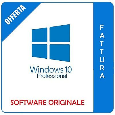 Windows 10 Professional Pro 32/64 bit Fatturabile - Originale