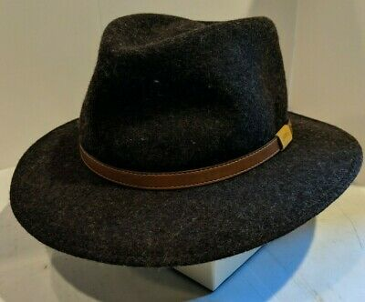 d6c09f79 BEAUTIFUL! ORVIS 100% Wool Lite Felt Men's Fedora Hat size 7-1/4-7-3 ...