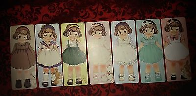 *Party Favors* Loose Vintage Girl Doll HQ Bookmarks/ Greeting Cards~SELLY 7pcs