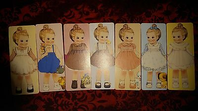 *Party Favors* Loose Vintage Girl Doll HQ Bookmarks/ Greeting Cards ~JULIE 7pcs