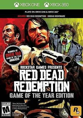Red Dead Redemption Game of the Year Edition Microsoft Xbox One and Xbox 360 New