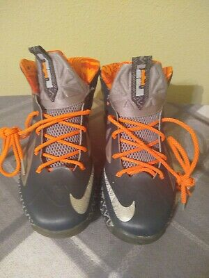new york 52229 b9d4c Nike Lebron 10 X BHM Black History Month YOUTH Basketball Shoes Size 7 Used