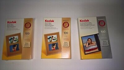 Kodak Gloss Brilliant Photo Paper 4 X 6 NEW/Sealed & opened 174 3327 3 boxes