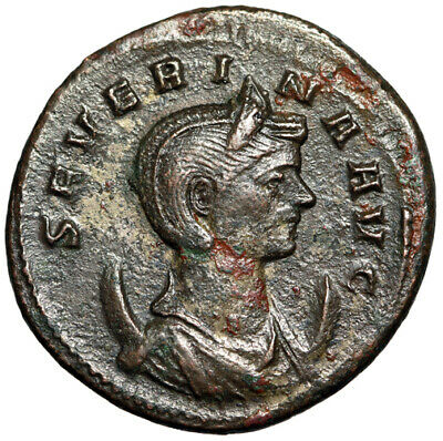 RARE EMPRESS Roman Coin of Severina Wife of Aurelian HIGH QUALITY Certified gVF