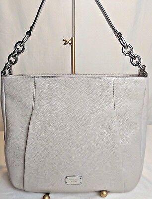 01cd021f99a08e NWT Michael Kors HALLIE Large Convertible Shoulder BAG Purse Tote / CEMENT  $348