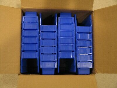 Akro-Mils Shelf Bin 11-5/8Dx 2-3/4W x 4H Blue 24 pack New in Box 30110 30-110