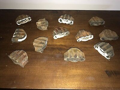 Antique Cast Iron Window Pulleys Lot 12 1800s Sash Counterweight Victorian