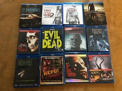 Huge Blu ray Horror Lot*28 Movies*Fright Night 2/ Let Me In/I Spit on Your Grave