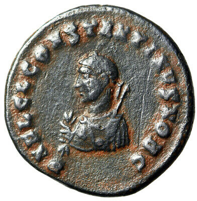 "RARE PORTRAIT Coin of Constantine II ""Miniature Bust / Architectural Camp Gate"""