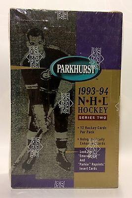 1993 Parkhurst series 2 NHL Hockey Card Box 36 packs Factory Sealed