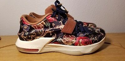 new arrival 1ac38 c90d8 Nike ZOOM KD 7 VII EXT FLORAL QS Kevin Durant 726438-400 Mens size 9
